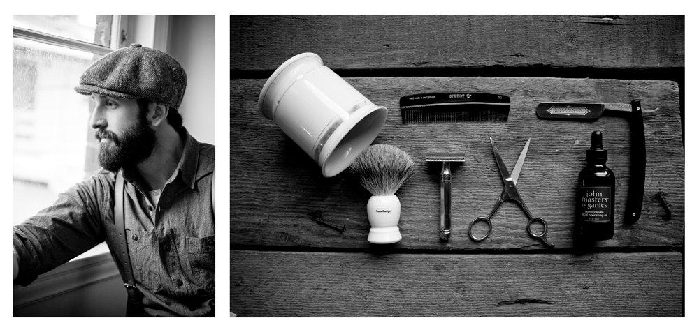 Doplnky gentlemana - hrebeň a sada na holenie