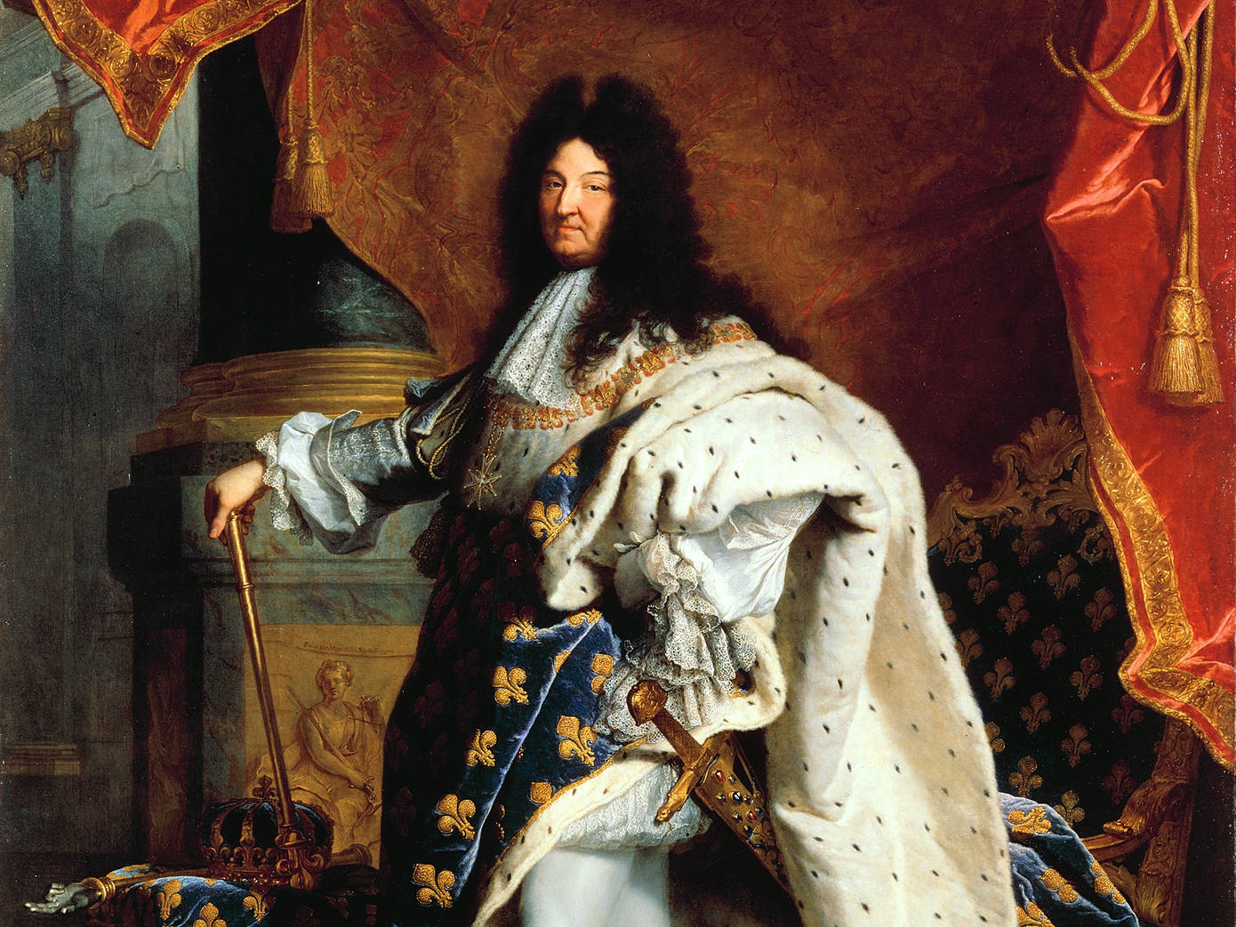 Ľudovíť XIV. pózuje maliarovi