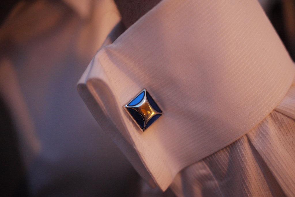 Zlato-modré manžetové gombíky