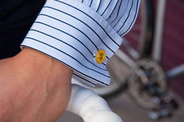 Manžetové gombíky s bicyklom