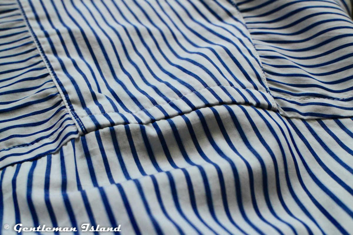 Vzory na košeli by mali plynulo nadväzovať