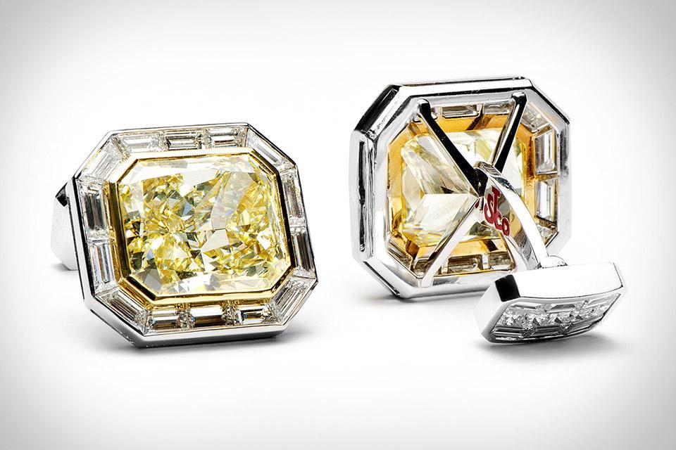 Manžetové gombíky Canary Diamond od Jacob & Co.