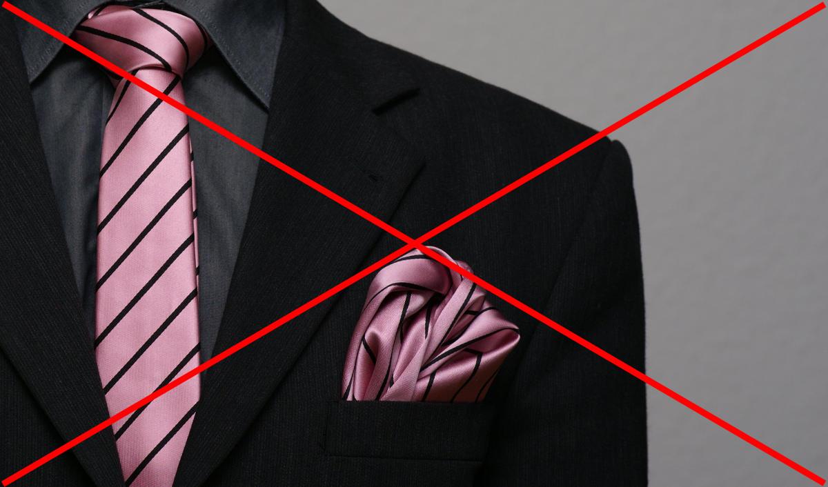 Vreckovka nikdy nemôže byť totožná s kravatou