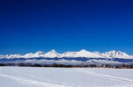 Pohľad na zasnežené Tatry v zime